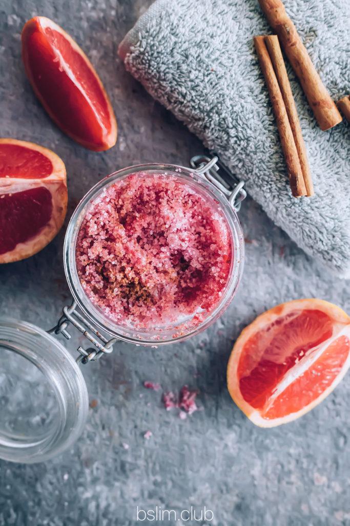 Солевой скраб для тела с грейпфрутом и корицей