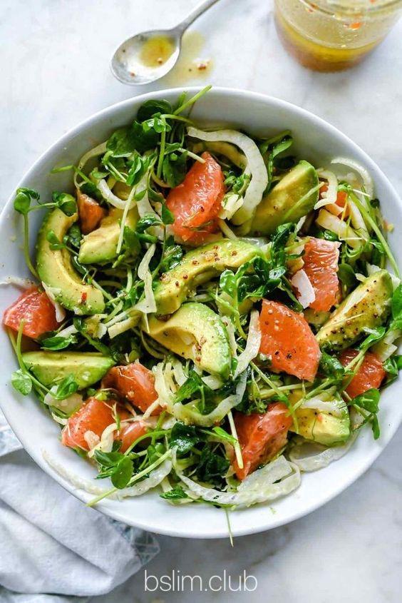 Рецепт салата с грейпфрутом, авокадо и фенхелем