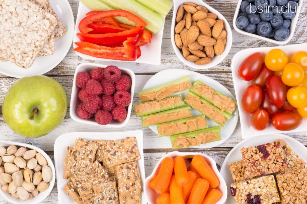 Виды здоровых перекусов при похудении