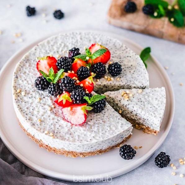 Рецепт пирога с чиа. Можно при похудении